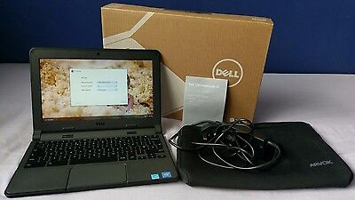 "Dell Chromebook 11-3120 Boxed with carry sleeve (4GB RAM, 16GB SSD, 11.6"")"
