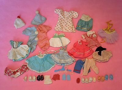 BIG Vintage Vogue GINNY Doll Clothes Lot *some tagged* Gloves + Shoes 35+ Pieces