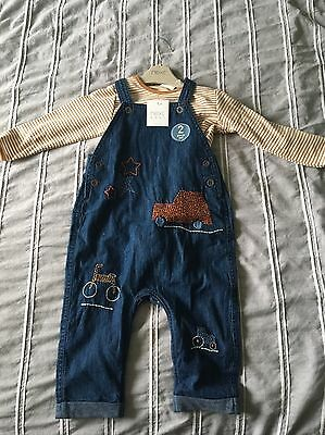 NEXT Baby Boys Dungarees 9-12 Months BNWT