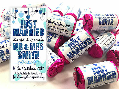 Personalised Love Hearts Sweets wedding favours Mini Love Hearts Just Married #5