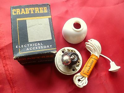 Authentic Crabtree Ceramic & Bakelite Ceiling pull switch