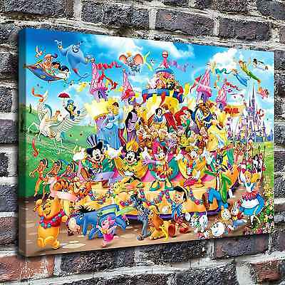 Disneyland painting HD Print on Canvas Home Decor Wall Art Picture12x18