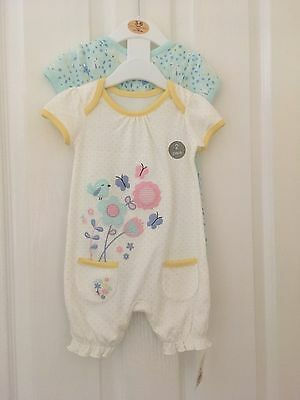 brand new baby rompers x2 size 3-6 months george