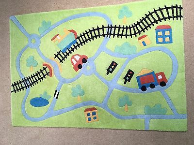 Next 100% Wool, Children's Rug with cars and road design