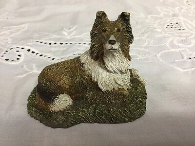 Collie, Kennel Collection, Blue Ridge Mountains Cold Bronze Cast 1979 Signed
