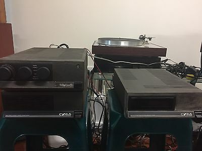 Cyrus 2 amplifier,Cyrus PSX power supply and Cyrus tuner