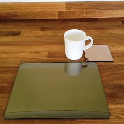 """11.5x8.5/"""" or 16x12/"""" Rectangle Shaped Clear Gloss Acrylic Placemats /& Coasters"""