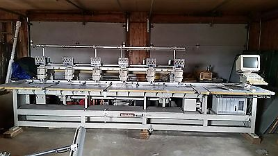 6 Head 9 Color Embroidery Machine - Barudan