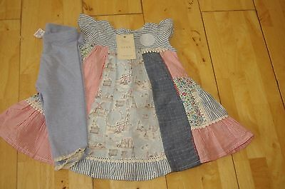 Pretty Next smock top and leggings set age 3 - 6 months bnwt new
