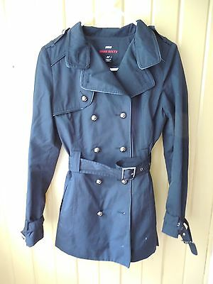 Miss Sixty M60 Women's Black Trench Coat Size M