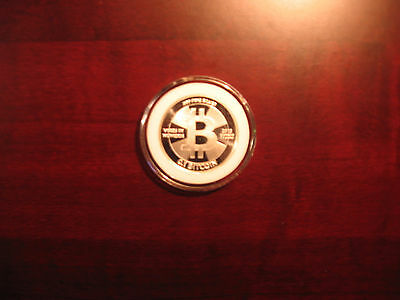 2013 CASASCIUS 0.1 Loaded .999 Silver Bit coin (Physical Coin/LTC/ETH/BTC/Monero