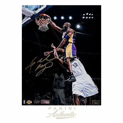 Kobe Bryant Autographed 8x10 Posterize Photograph ~Limited Edition to 124~