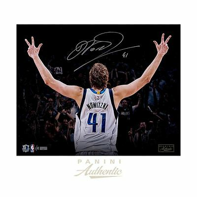 "Dirk Nowitzki Autographed 16x20 ""Three"" Photograph ~Limited Edition to 41~"