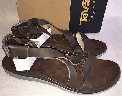 2cb71ce836a2 TEVA TERRA FLOAT LIVIA LUX Brown LEATHER STRAPPY SANDALS 1009810 WOMENS