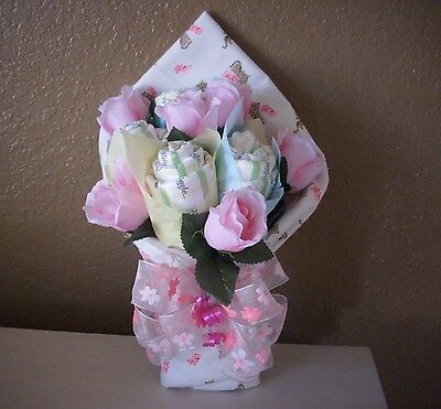 Gorgeous Diaper Bouquet Pretty pink for Baby Girl Must to See @@@@