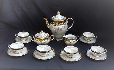 Tea Set for 6, Mother of Pearl, Bavaria Seltmann Weiden-E, Series,Theresia, 1950