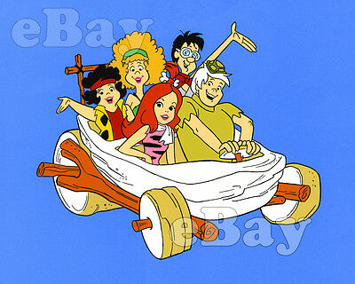 Rare! PEBBLES & BAMM BAMM SHOW Cartoon Photo HANNA BARBERA Studios FLINTSTONES