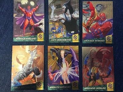 1994 FLEER ULTRA X-MEN 6 CARD FATAL ATTRACTIONS RARE Misprint On Wolverine Card!
