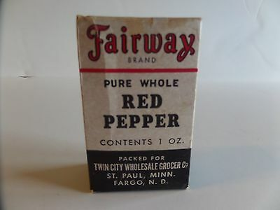 Vintage Pure Whole Red Pepper Sealed 10z Box Fairway Brand