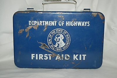 Vintage Department of Highways First Aid Kit Washington State Unopened Contents!