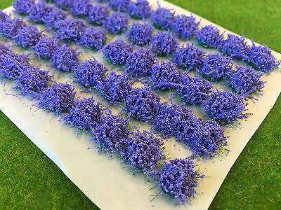 Large Lavender Flower Tufts - Model Scenery Static Grass Warhammer Railway Scale