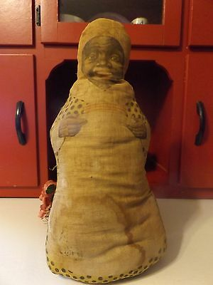 Antique  Black Americana Aunt Jemima Doll Quaker Oats Aunt Jemima Mammy Doll