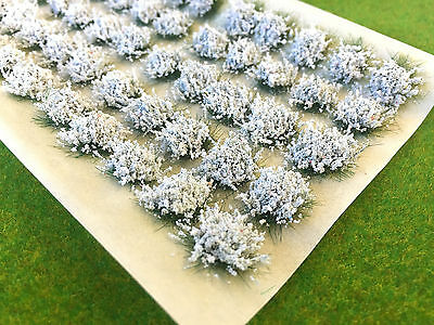 Large White Flower Tufts - Model Scenery Static Grass Warhammer Railway Garden
