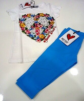 Completo Per Bambina Marca Sweet Years T-Shirt E Leggings A Pinocchietto 3/4