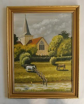 "An Original Oil Painting Of ""alfriston Sussex - Signed"