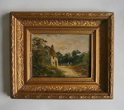 "An Original Oil Painting Of ""a Rural Scene"" - Unsigned"