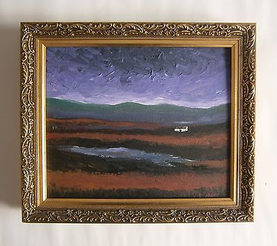 "Original Modernist Oil Painting Of ""a Irish Landscape"" - Signed"
