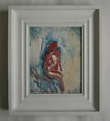 "An Oil  Painting Of  ""a Nude Figure"" -  Signed"