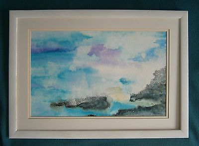 "A  Modernist Watercolour Painting Of  ""soar Mill Cove - South Devon"" -  Signed"