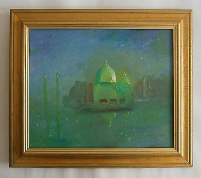 "An Original Oil Painting Of  ""venice At Twilight"" - Signed"