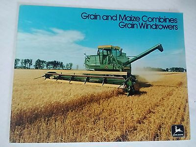 Original 1976 John Deere Grain And Maize Combines 51page Brochure