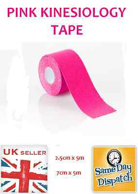 Pink Kinesiology Tape Sports Physio Muscle Strain Injury Support 5M