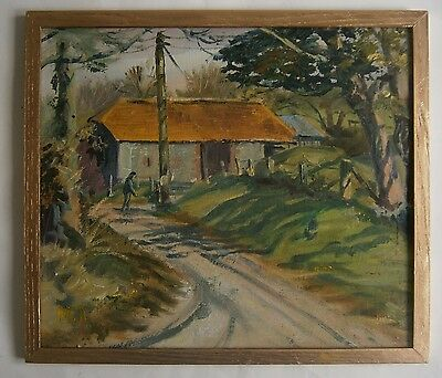"An Oil Painting Of ""a Rural Scene"" - Signed"