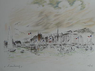 André HAMBOURG  LITHOGRAPHIE MARINE