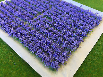 Small Lavender Flower Tufts - Model Scenery Static Grass Warhammer Railway base