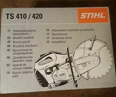 """Stihl Ts420  14"""" Concrete Cut-Off Saw With Carbon Blade """"new In Box"""""""