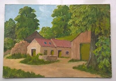 Original Oil Painting on Board Modern Contemporary Art Country Landscape 1