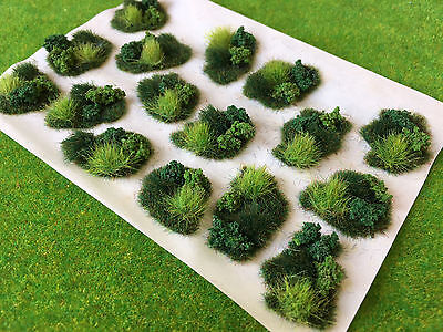 Scrub & Brush Dales Tuft Dioramas - Model Scenery Static Grass Warhammer Railway