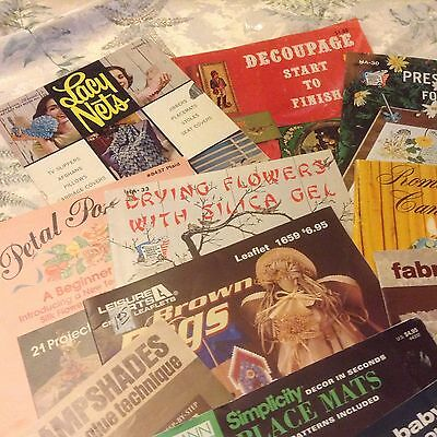 LOT OF 18 ASSORTED CRAFT BOOKLETS & BOOKS many vintage