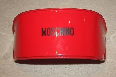Moschino sunglasses glasses hard case, red with black detail , new