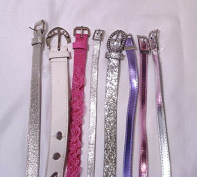 Girls Super Cute!  Assorted Belts Lot of 8