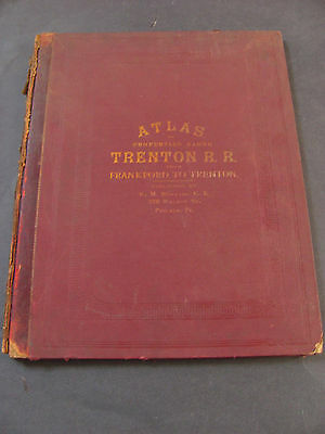 Atlas Of Properties Along Trenton R.R Railroad Frankford To Trenton G.M. Hopkins