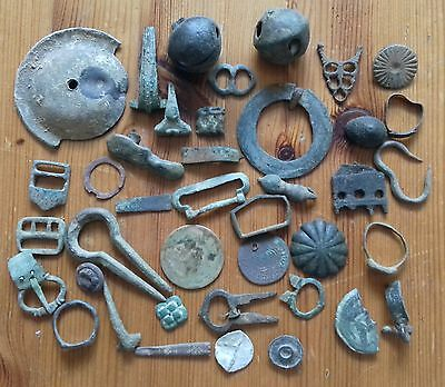 Group of Metal Detecting Finds Including Roman & Medieval