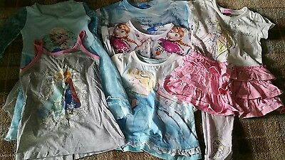 Girls aged 3 - 4 Frozen and Disney Princess clothing bundle