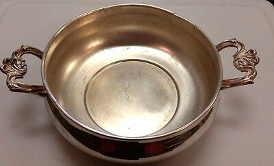 American Made Silver Plate Casserole Serving Bowl Dish