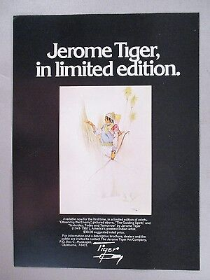 Jerome Tiger Limited Edition Prints PRINT AD - 1974